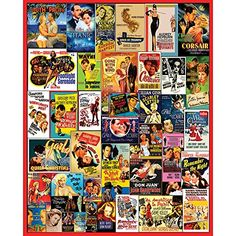 Vintage Movie Poster Collage 1000 Pieces Jigsaw Puzzle - Classic Films Art White Mountain Puzzles http://smile.amazon.com/dp/B00NC598SA/ref=cm_sw_r_pi_dp_CufGub0WCRPVJ