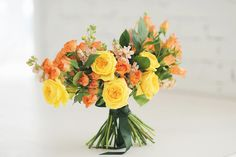 Yellow and orange wedding bouquet | fabmood.com