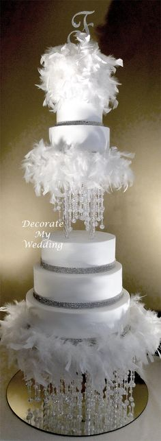 Wedding cakes - A real handy guide on cake images. Craving for other gorgeous ideas stop by the image now. Tall Wedding Cakes, Extravagant Wedding Cakes, Bling Wedding Cakes, Bling Cakes, Diy Wedding Cake, Wedding Cake Decorations, Elegant Wedding Cakes, Beautiful Wedding Cakes, Wedding Cake Designs