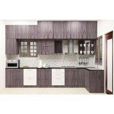 Malanje L - Shaped Kitchen with Laminate Finish
