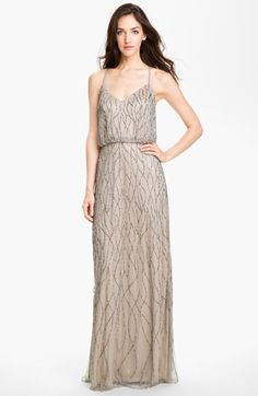 Adrianna Papell Beaded Mesh Blouson Gown available at #Nordstrom $278