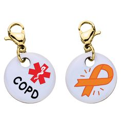 [[description]] [[start tab]] About This larger-sized 16mm (0.65 inches) in diameter, charm is printed on aluminum, and is available with a silver-plated, gold-plated clasp, stainless or nickel-free c