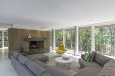 Architect David Jay Weiner, Berkshire Pond House in Becket, Massachusetts