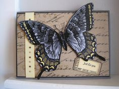 Grey and Yellow Swallowtail by incindiary - Cards and Paper Crafts at Splitcoaststampers
