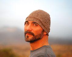 Men's Beanie Hat - Unisex - Mocha Brown - Organic Cotton Hemp - Eco Friendly - Organic Clothing by SoulRole on Etsy