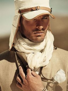 makes me think of a modern Laurence of Arabia.