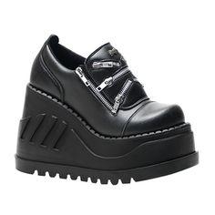 STOMP-16 Wedge Platform Shoes
