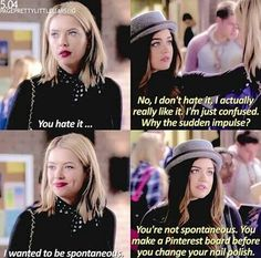 Love these two! #HannaMarin #AriaMontgomery #PLL