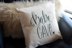 This item is unavailable - Babe Cave Girls Room Woman Cave Hand drawn Nursery Pillow 16 Handwritten Makeup Room Woman Cave - Babe Cave, Woman Cave, Pillow Room, Accent Pieces, Gorgeous Women, Vintage Ladies, How To Draw Hands, Typography, Nursery