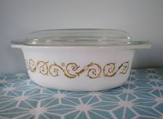 Pyrex Empire Scroll Covered Casserole