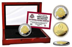 Ohio State Buckeyes 2014 College Football National Champions Celebratory Two-Tone Minted Coin - Limited Edition