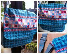 Tasche aus beschichteter Baumwolle, selbstgenäht, eigener Schnitt