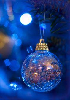 magical blue ornament.