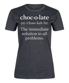 Heather Charcoal Chocolate Definition Fitted Tee   zulily