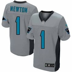 Men s Nike NFL Carolina Panthers  1 Cam Newton Game Grey Shadow Jersey   129.99 04f5da355