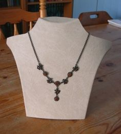 jewelry how-to - Make a Necklace Display: A Cheap & Easy Way to Create A Great Looking Necklace Bust  by Bea Graansma