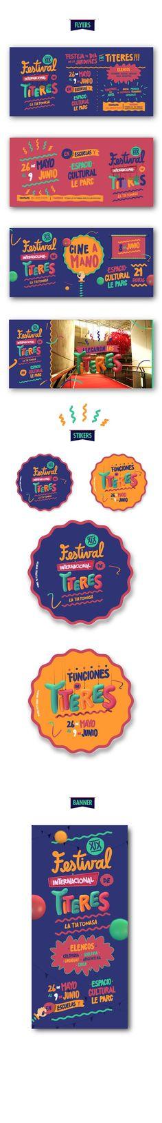 XIX Festival Internacional de Titeres La Tia Tomasa by FOAK, via Behance