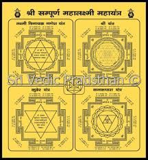 SampurnaMahalaxmiMahayantra is the most powerful yantra if material as well as financial gains and security are your needs http://www.srivedicpratisthan.com/sampurna_mahalaxmi_mahayantra.php
