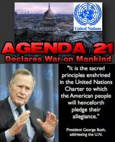 He signed Agenda 21 & then Clinton, & W implemented it & Obama's driving 'em in to home plate.I voted for all the Bushes, but I'll never again. Bush was very sick & in hosp a long time - I wondered if he thought about this & repented -  power & greed. If not, one day God will hold him accountable for this. To think of the  manipulation & lies throughout the years. We have to stand together to get our Country back. America's children deserve better than George W. Bush & NWO. click to read