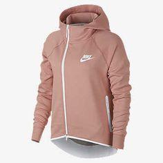 Nike Sportswear Tech Fleece Women's Full-Zip Cape Size S (Rust Pink) Nike Tech Fleece, Nike Outfits, Fashion Outfits, Nike Sportswear, Cape Jacket, Black White Fashion, Nike Hoodie, Cool Hoodies, Ladies Dress Design