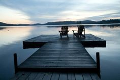 The dock is where i used to go after every was in bed to ponder my thoughts, dream my dreams, listen to the loons and watch the northern lights and sneak a little smoke while i was growing up. I miss lake living.