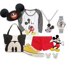 LOVE This Outfit, but with capris or pants! Cute Disney Outfits, Disney World Outfits, Disneyland Outfits, Disney Inspired Outfits, Disney Style, Disney Clothes, Disney Fashion, What To Wear Today, How To Wear