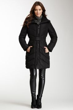 Belted Down Duffle Coat by Kenneth Cole on @HauteLook