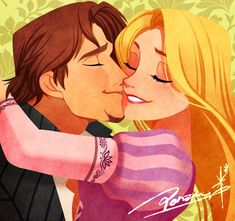 Rapunzel and Flynn Rider from Tangled Rapunzel Y Flynn, Rapunzel And Eugene, Disney Rapunzel, Arte Disney, Disney Magic, Princess Rapunzel, Eugene Tangled, Tangled Flynn, Tangled 2010