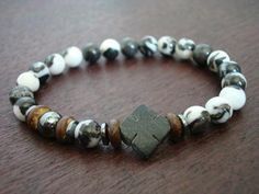 Men's Black Jade Iron Cross Bracelet