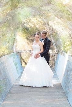 Church & Wetland Wedding, Adelaide wedding photography. Gorgeous natural archway on this little bridge. www.gpix.com.au