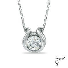 12 Ct T W Bezel Set Diamond Solitaire Necklace In 14kt