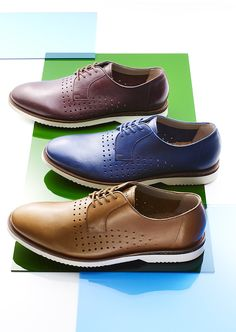 Fine leather detailing and a sleek design make these oxfords by Clarks a perfect go-to gift for Father's Day.