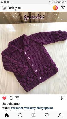 Crochet Bebe Crochet Yarn Crochet Girls Knitting Patterns Free Hand Knitting Knitting For Kids Woolen Dresses Baby Vest Sewing Basics Baby Boy Sweater, Knitted Baby Cardigan, Knit Baby Sweaters, Baby Pullover, Knitted Baby Clothes, Knitted Coat, Easy Knitting Patterns, Knitting For Kids, Knitting Designs