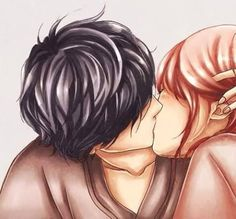 kiss, ao haru ride, kou and futaba