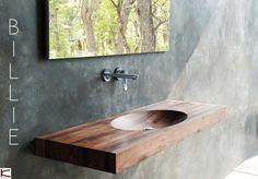 Il design di Billie è un classico. Un lavabo ovale è elegantemente scolpito nel legno, gradevole alla vista ed al tatto. E' disponibile in dorato teak di recupero o in caldo noce americano dalla tonalità più scura. Karpenter by IDESTUDIO