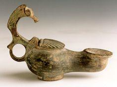Roman/Byzantine Bronze Oil Lamp -        Origin: Bethany, Israel          Circa: 400  AD         to 600  AD