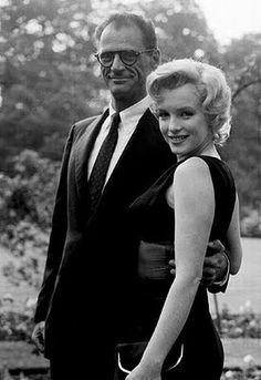 Arthur Miller and Marilyn Monroe.
