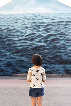 Girls Linen Shirt Block Print Shirt Bird Print Kids Linen
