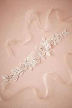 The sash I got for my dress! Flora Organza Sash from @BHLDN  Idea for a belt for my reception dress