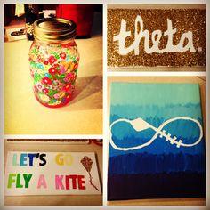 ΚΑΘ Sigma Chi, Kappa Alpha Theta, Go Fly A Kite, Big Little Gifts, Sorority Crafts, Sorority Life, Greek Life, Pansies, Funny Gifts