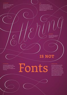 lettering is not fonts poster by jessica hische