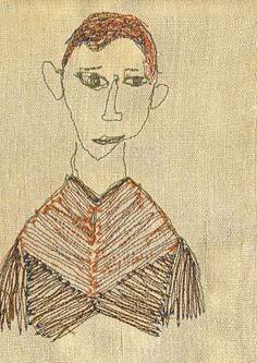 Pascale Driviere Art Textile, Textile Artists, Textile Design, Contemporary Embroidery, Textiles, Stitch Design, Drawing People, Fabric Art, Embroidery Applique