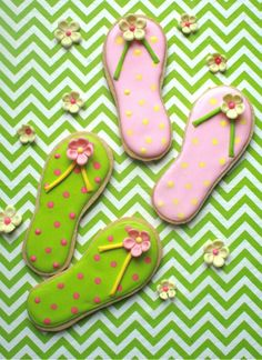 Looking for your next project? You're going to love Flip Flop Cookie Decorating Template by designer CraftsyBlog. - via @Craftsy