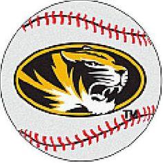 Fanmats Missouri Tigers Baseball-Shaped Mat