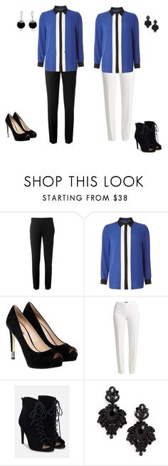 """""""Concierto ElimZo opción 8 color block"""" by everojas on Polyvore featuring Chloé, Dorothy Perkins, GUESS, Basler, JustFab, Tasha and Bling Jewelry"""