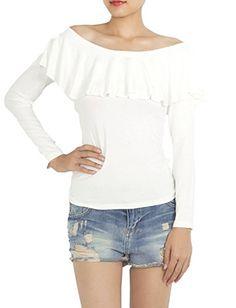 iB-iP Womens Flounced Knit Tees Shirt, White iB-iP http://www.amazon.com/dp/B00P8RUX1Q/ref=cm_sw_r_pi_dp_U.Levb0ZV834J