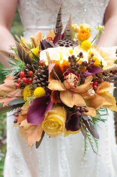 Fall Bridal Bouquet. This is it but add some more orange/gold minus yellow