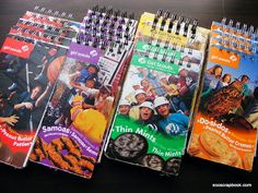 recycled girl scout cookie box notepads