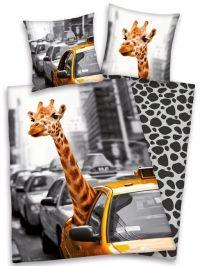 GIRAFFE YELLOW CAB NEW YORK Eenpersoons Dekbedovertrek, €37,50.