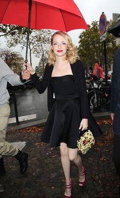 Oh my! Emma Stone looking gorgeous at Miu Miu